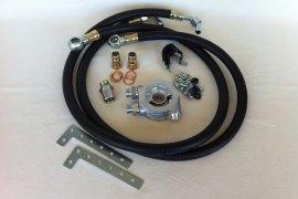 Montage-Kit Ölkühler VW G60, G40 - Gummileitungen schwarz