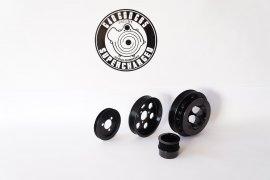 Riemenscheiben Kit Alu für VW G60 - schwarz