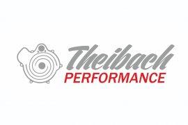 Theibach-Performance Aufkleber / Sticker / Beschriftung in silber-rot