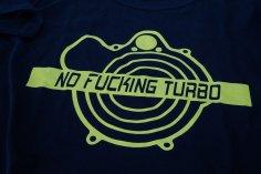 T-Shirt Herren NO FUCKING TURBO in schwarz