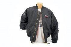 Piloten-Jacke schwarz