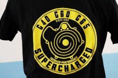 T-Shirt Herren G40 G60 G65 Lader / G-Lader Retro-Look - schwarz mit gelbem Druck