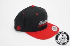 Snapback Cap in schwarz/rot - Theibach-Performance