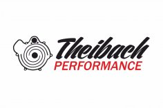 Theibach-Performance Aufkleber / Sticker / Beschriftung in schwarz-rot